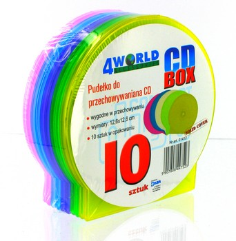 4World CD Box Slim Color, 10 ks.
