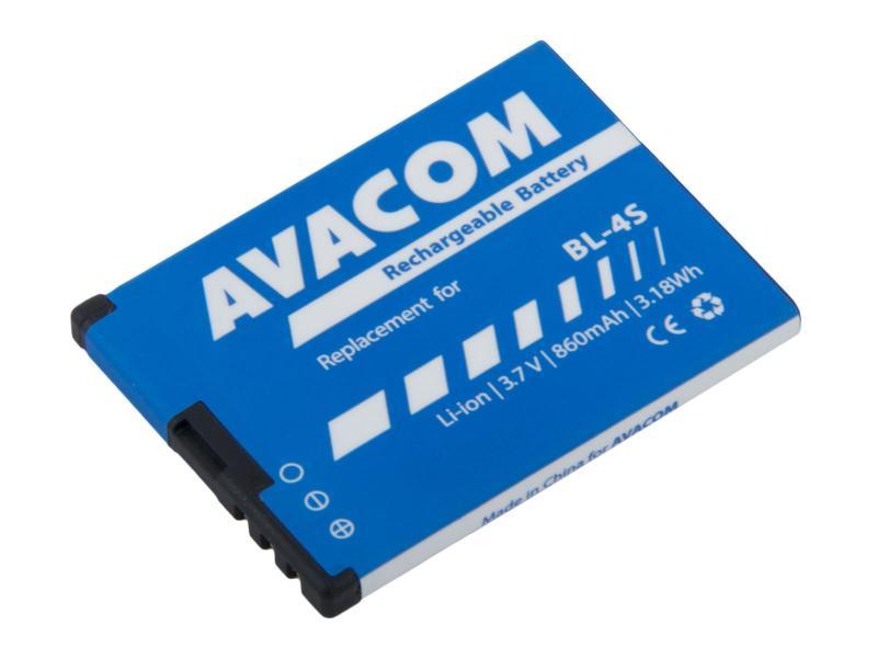 Náhradní baterie AVACOM do mobilu Nokia 3600 Slide, 2680 Li-Ion 3,7V 860mAh (náhrada BL-4S)