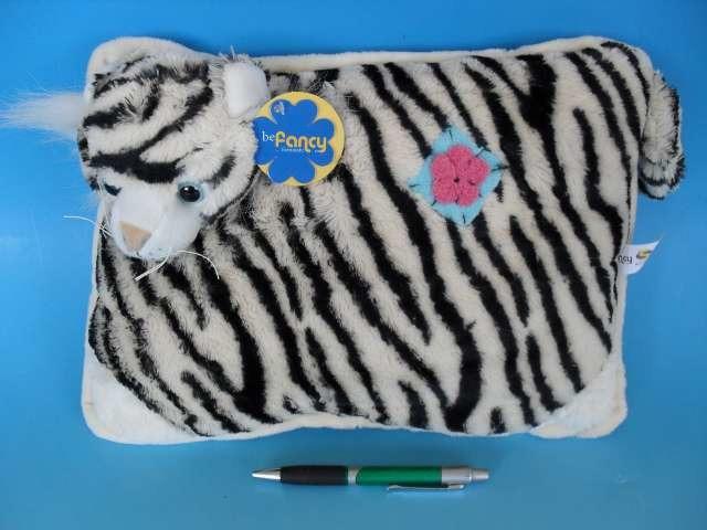 Plyšový polštářek Bílý tygr - 35x25 cm