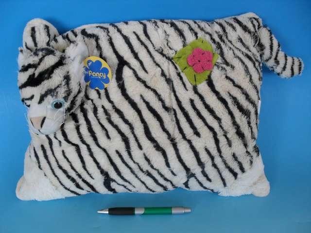 Plyšový polštářek Bílý tygr 40x30 cm