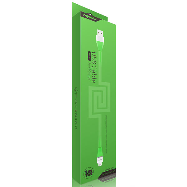 iMyMax Lovely Micro USB Cable, Green