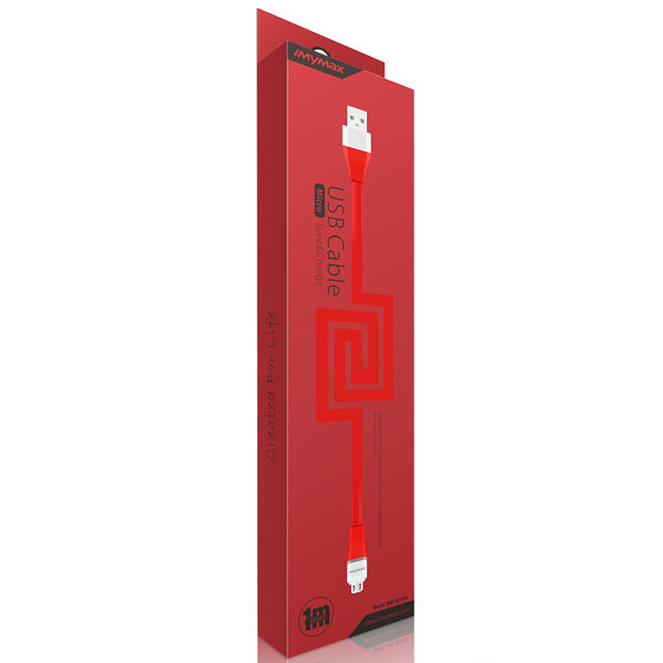 iMyMax Lovely Micro USB Cable, Red