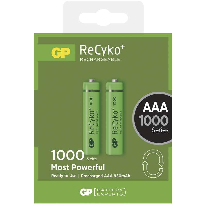 GP AAA ReCyko+ 1000 series, nabíjecí, 2 ks