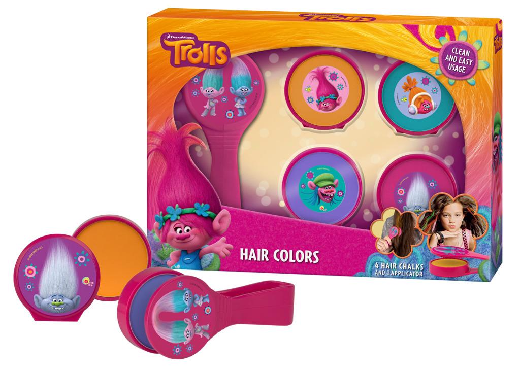 Křídové barvy na vlasy s aplikátorem Troll