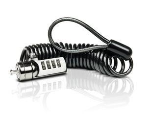 SWEEX Bezpečnostný kábel na kód krútený Black