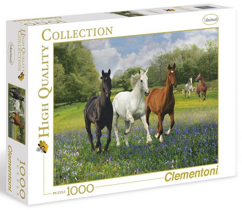 Puzzle 1000 dílků Koně