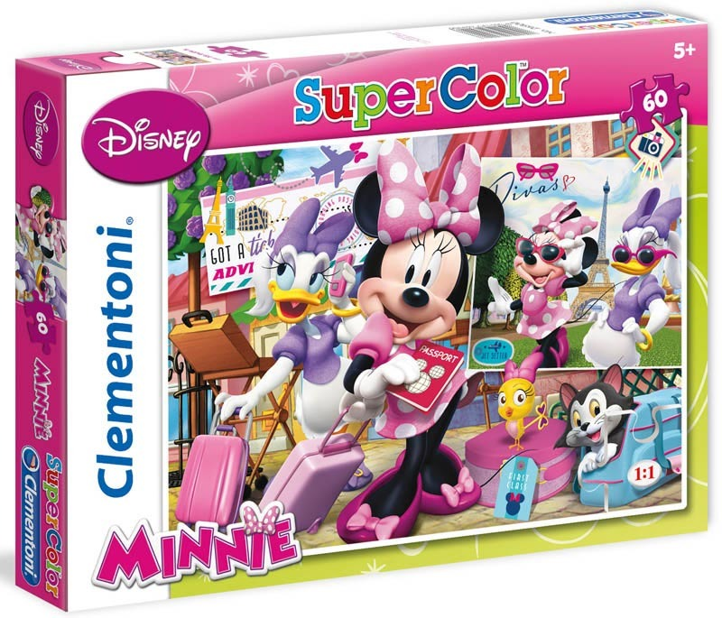 Puzzle Supercolor Minnie 60 dílků