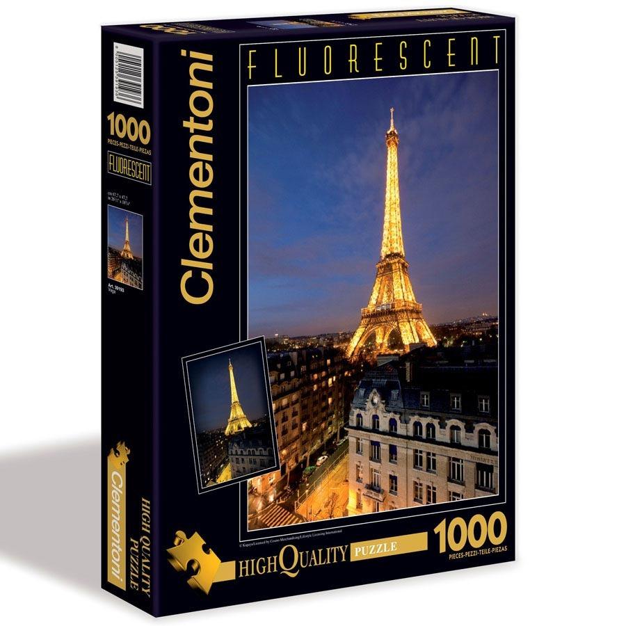 Puzzle Fluorescentní 1000 dílků Paříž