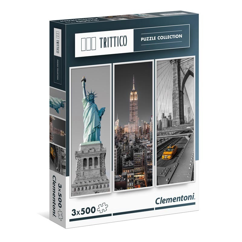 Puzzle Trittico 3x500 dílků New York