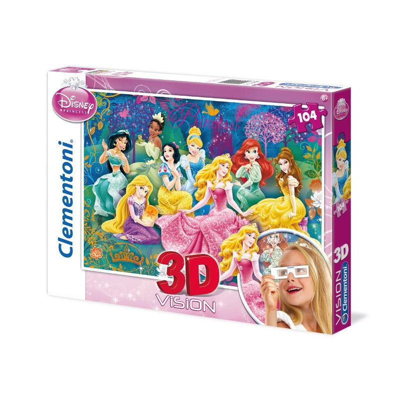 Puzzle 3D Princezny 104 dílků