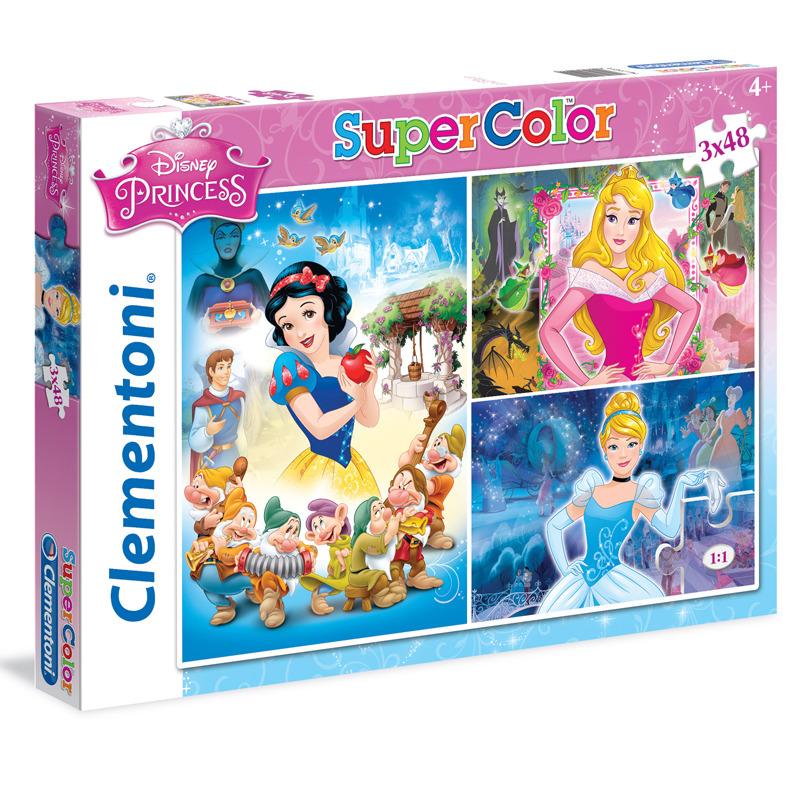 Puzzle Supercolor Princezny 3x48 dílků