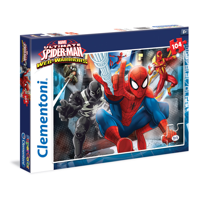 Puzzle Supercolor 104 dílků Spiderman