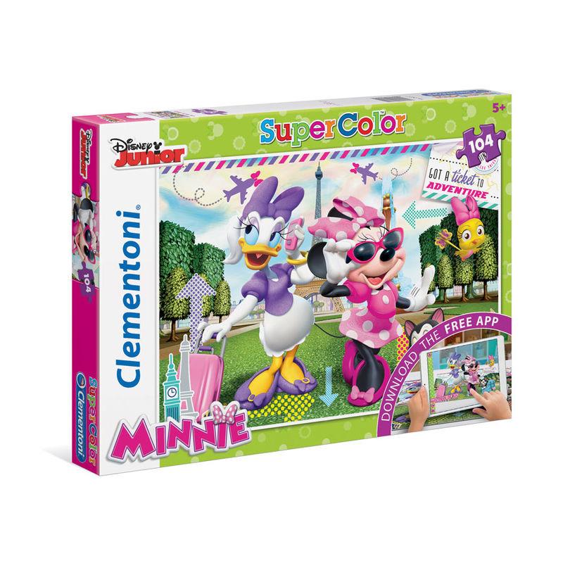 Puzzle Supercolor Minnie App 104 dílků