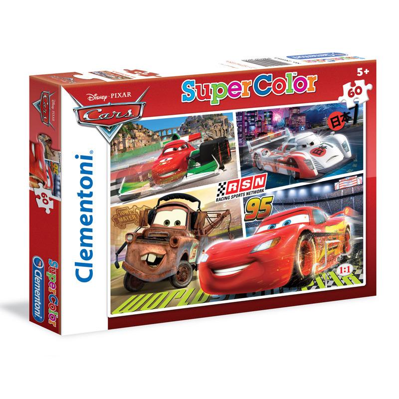 Puzzle Supercolor 60 dílků Auta