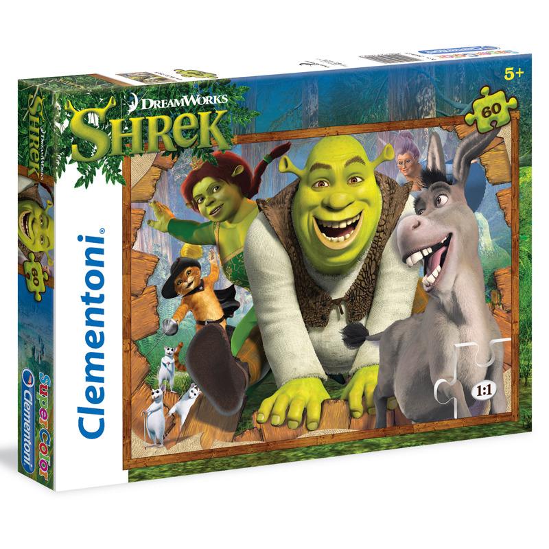 Puzzle Supercolor 60 dílků Shrek