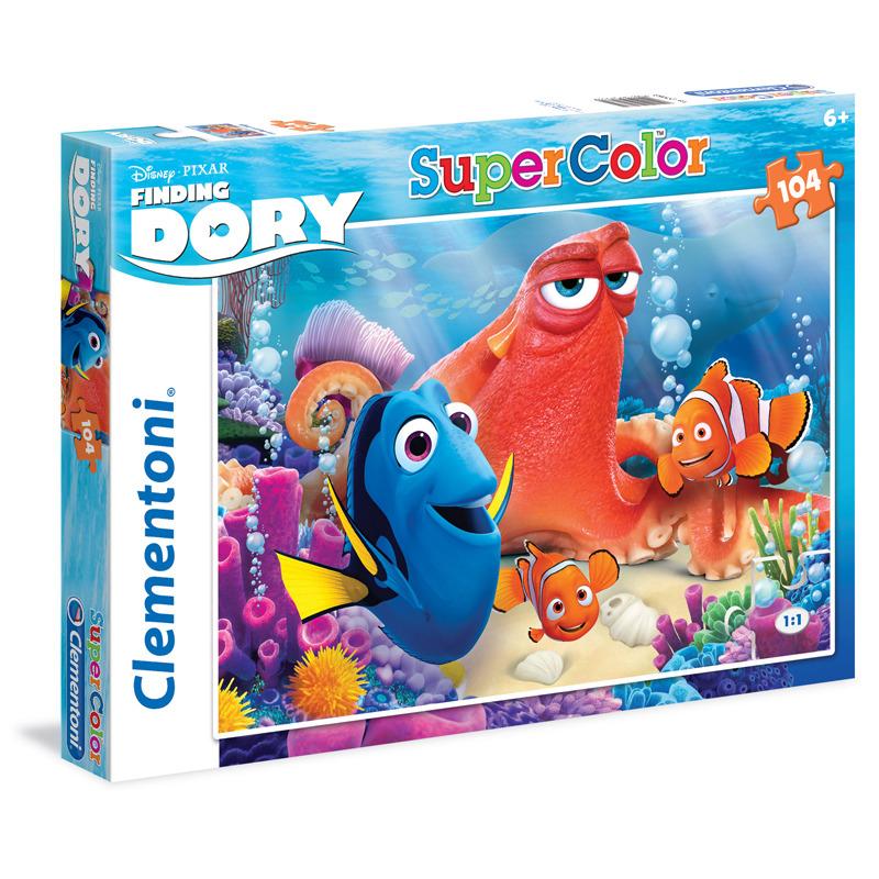 Puzzle Supercolor 104 dílků Hledá se Dory