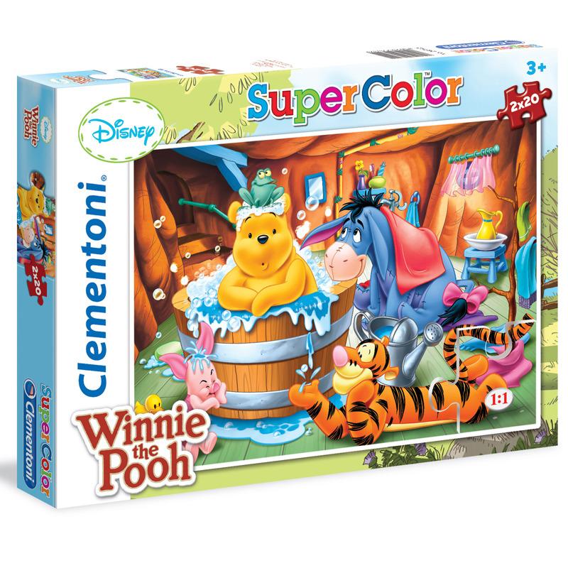 Puzzle Supercolor Medvídek Pú 2x20 dílků