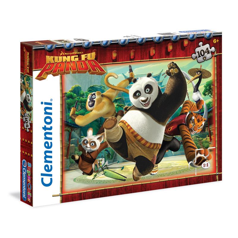 Puzzle Supercolor 104 dílků Kung Fu Panda