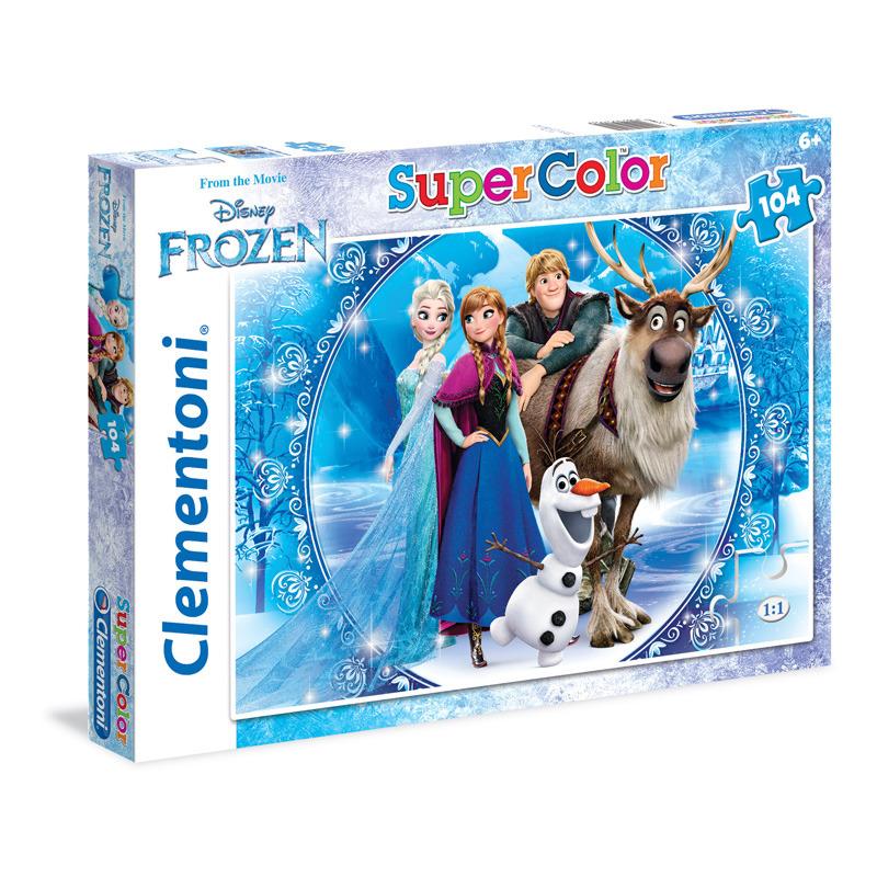 Puzzle Supercolor 104 dílků Ledové Království
