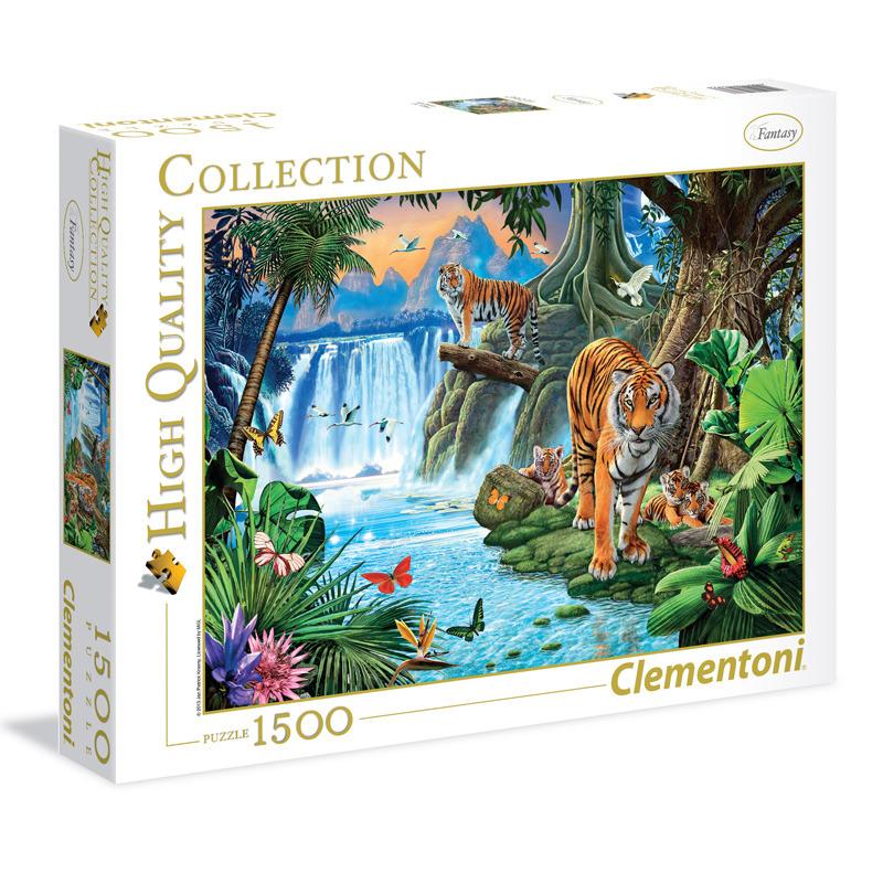 Puzzle 1500 dílků Tygří rodina