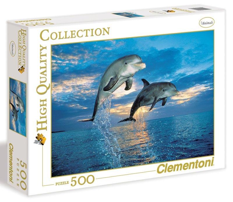 Puzzle 500 dílků Delfíni