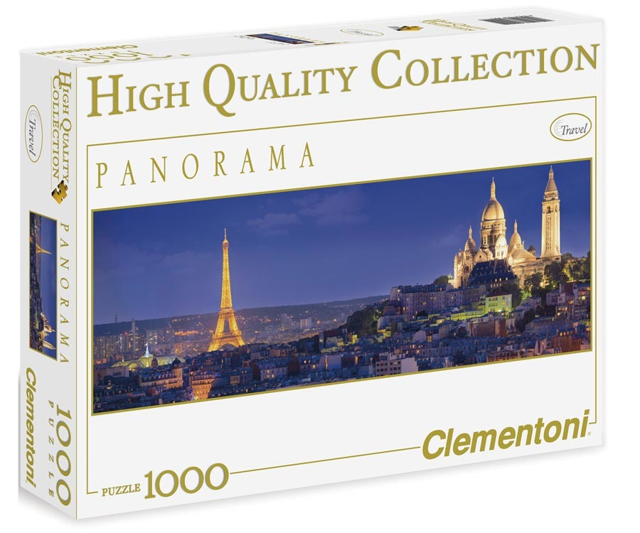 Puzzle Panorama 1000 dílků Paříž