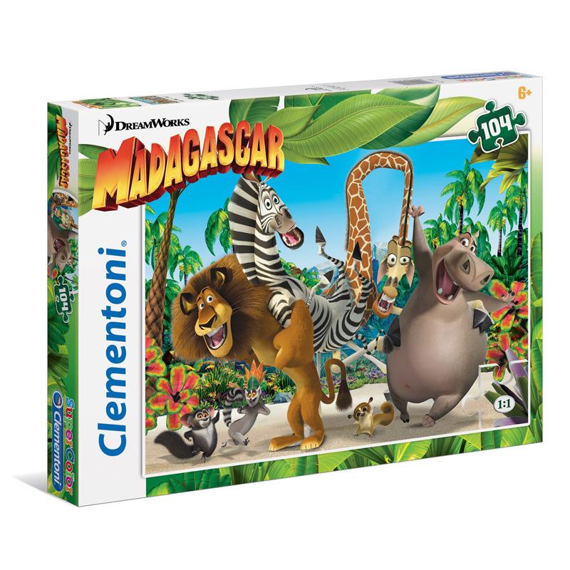 Puzzle Supercolor 104 dílků Madagascar