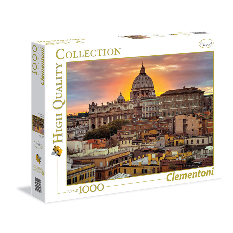 Puzzle 1000 dílků Řím - západ slunce