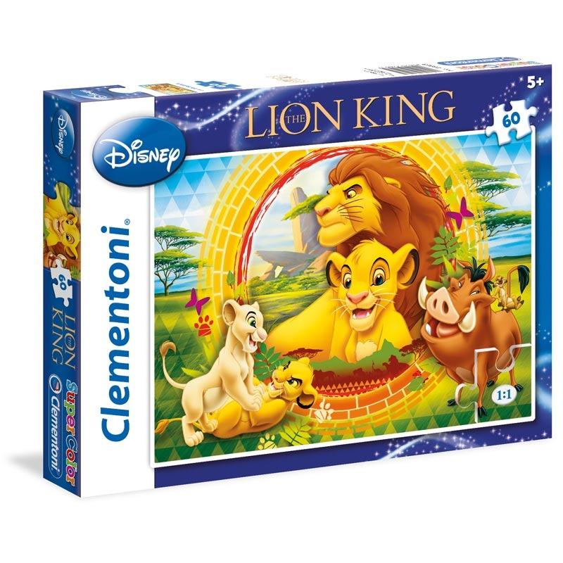 Puzzle Supercolor 60 dílků Lví král