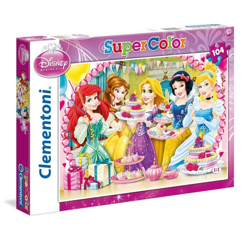 Puzzle Supercolor 104 dílků Princezny