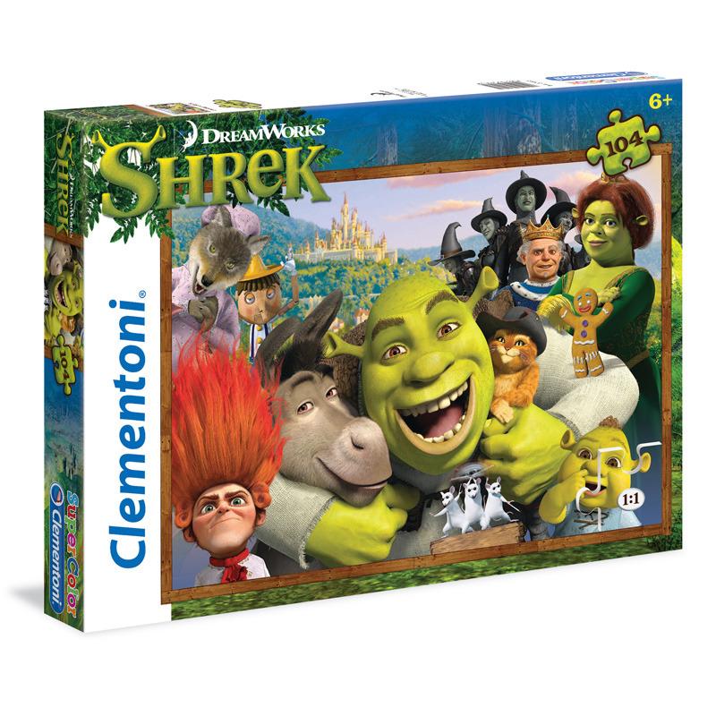 Puzzle Supercolor 104 dílků Shrek