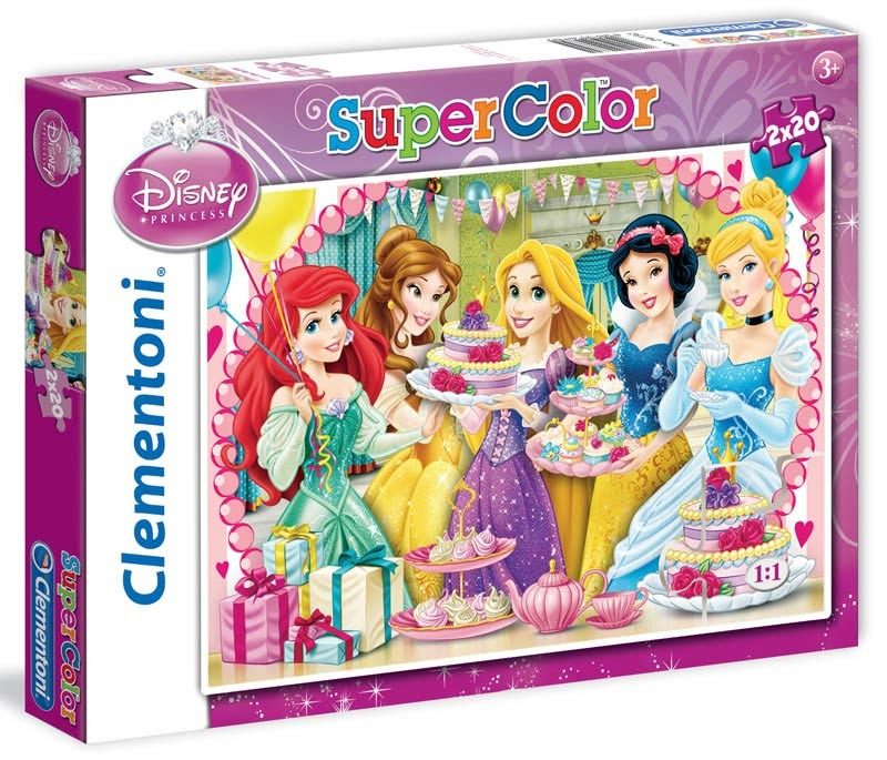 Puzzle Supercolor Princezny 2x20 dílků