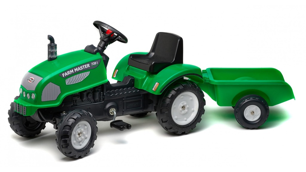 Traktor Farm Master s valníkem zelený
