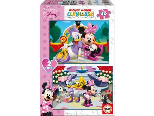 Puzzle Minnie 2v1 48 dílků