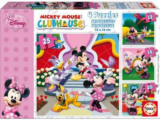 Puzzle Minnie 4 v1 12,16,20,25 dílků