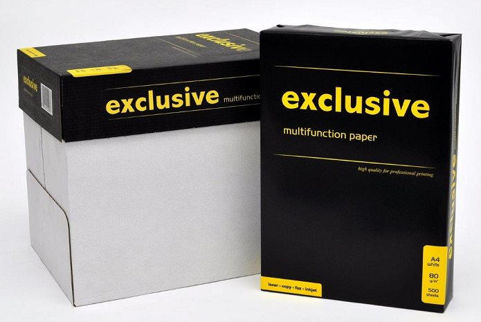 Kancelářský papír Exlusive - A4, 80g, bílý, 500 listů
