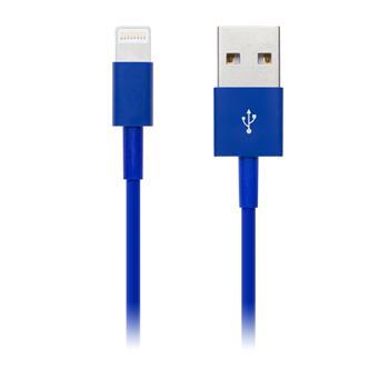 CONNECT IT COLORZ kabel Apple Lightning - USB, 1m, modrý