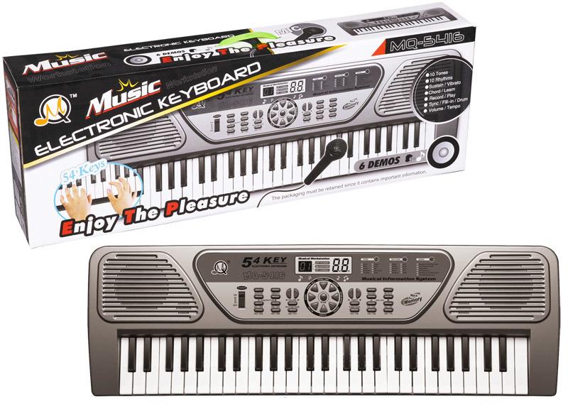 Elektronické klávesy 54 kláves