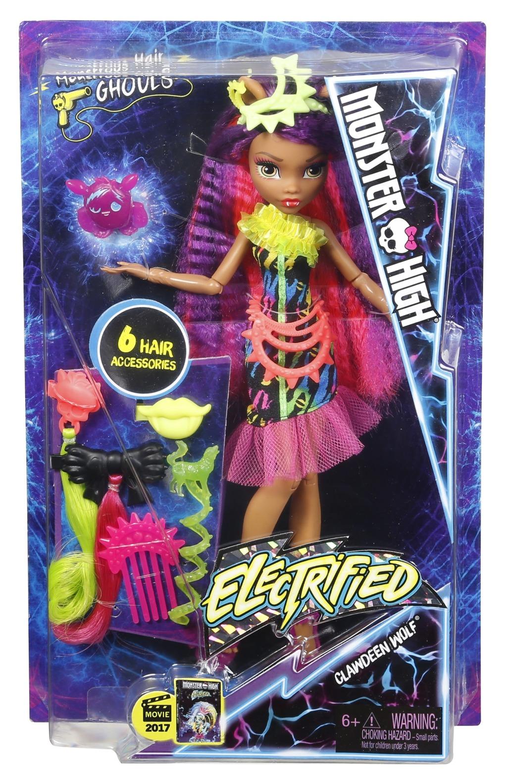 Monster High příšerka s monstrózními vlasy