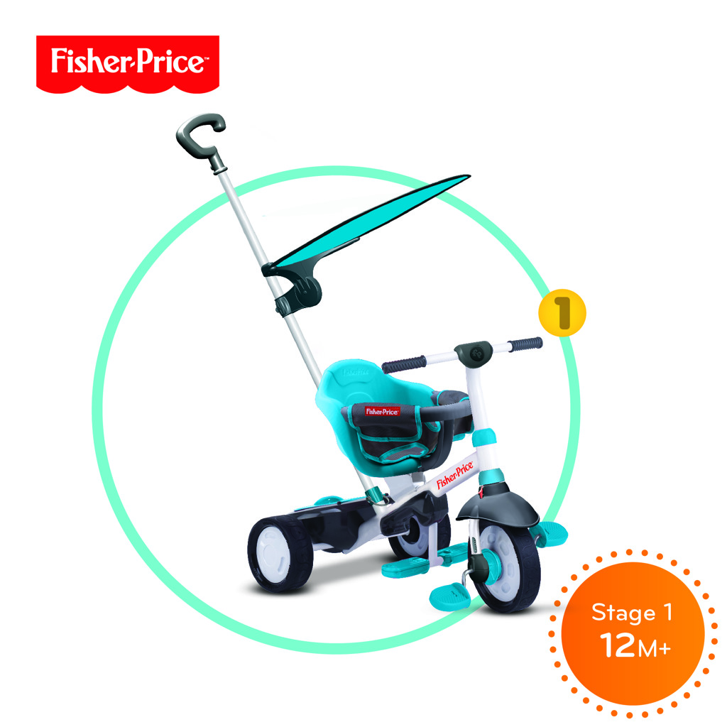 Tříkolka Smart Trike Charm Plus modrá 3v1