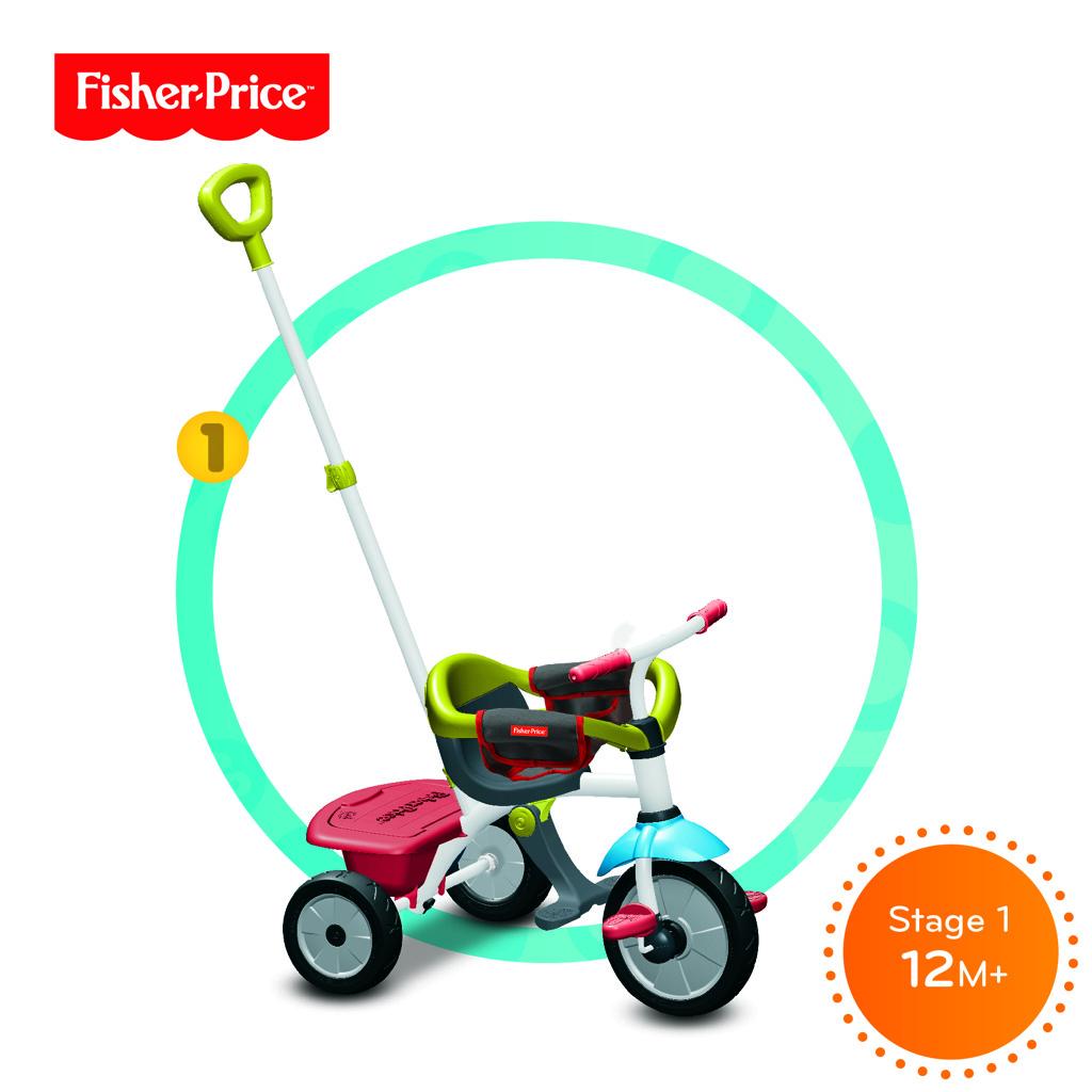 Tříkolka Smart Trike 3 v 1 Jolly Plus zeleno-červená