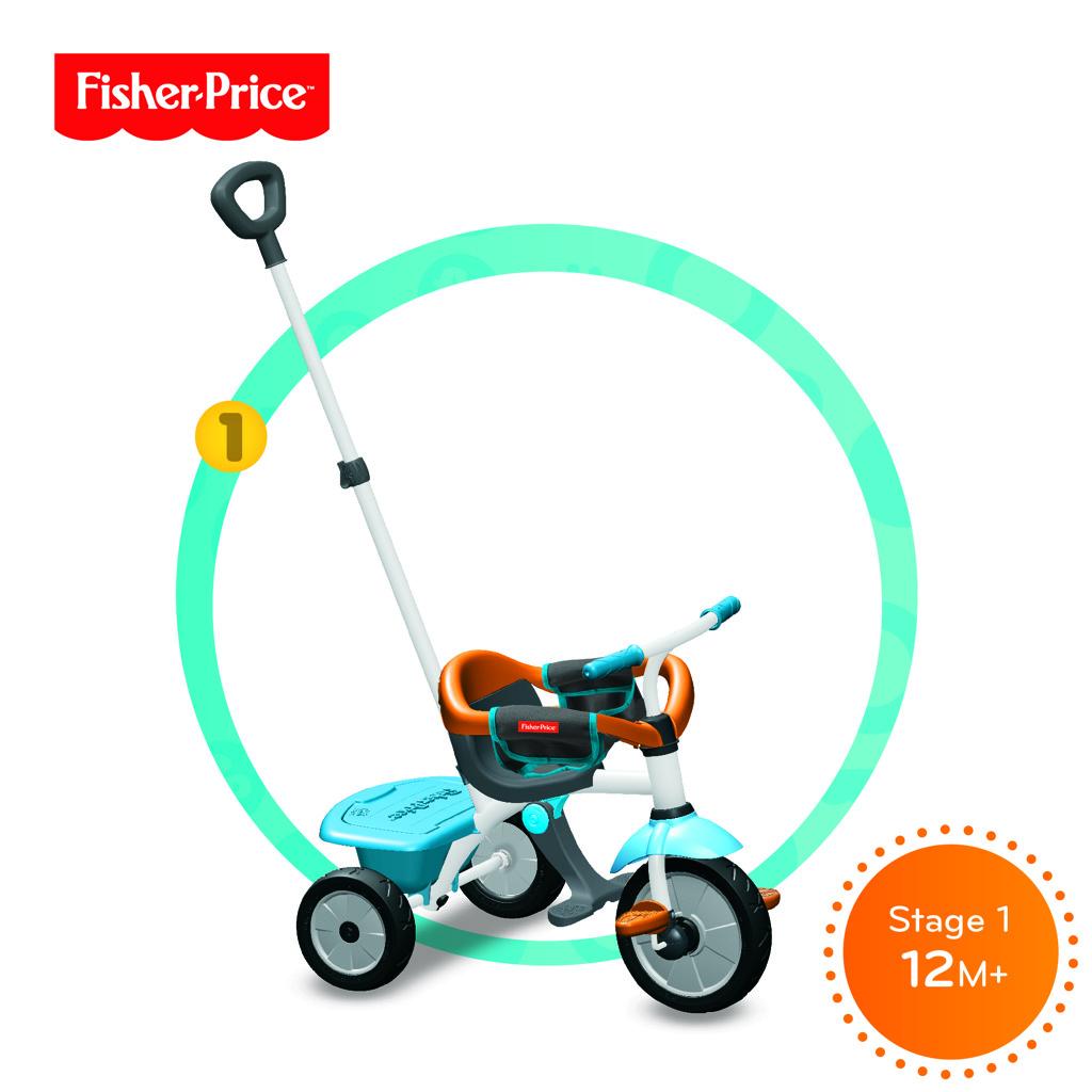 Tříkolka Smart Trike 3 v 1 Jolly Plus modro-oranžová