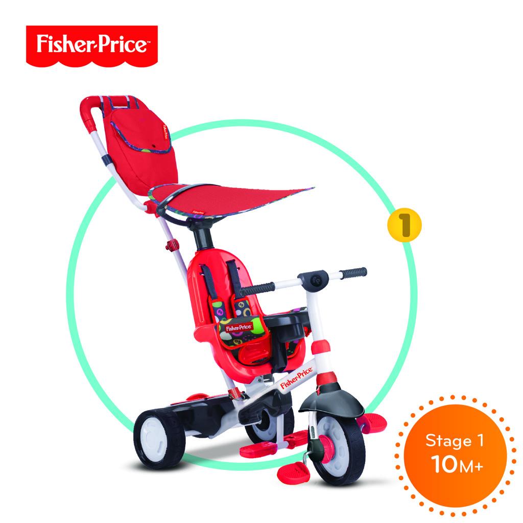 Tříkolka Smart Trike Charisma červená 3v1