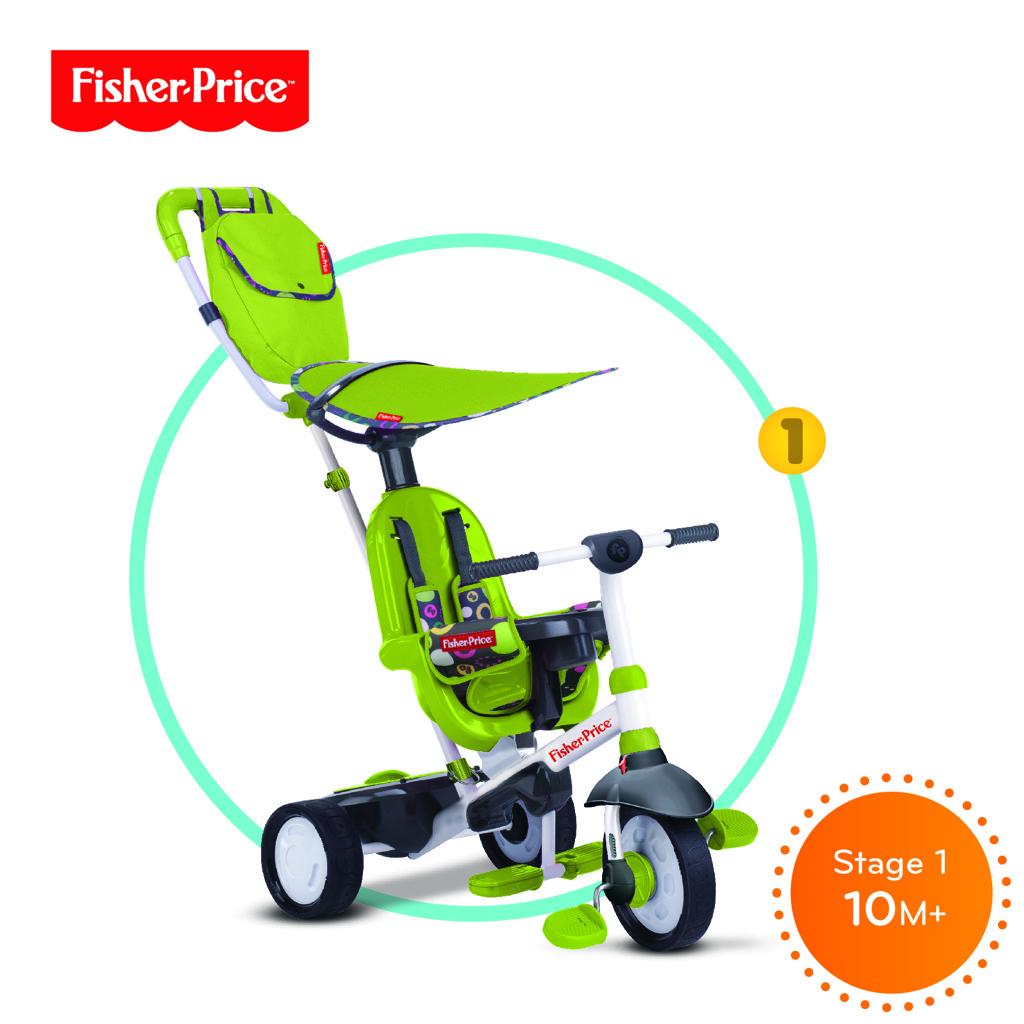 Tříkolka Smart Trike Charisma zelená 3v1