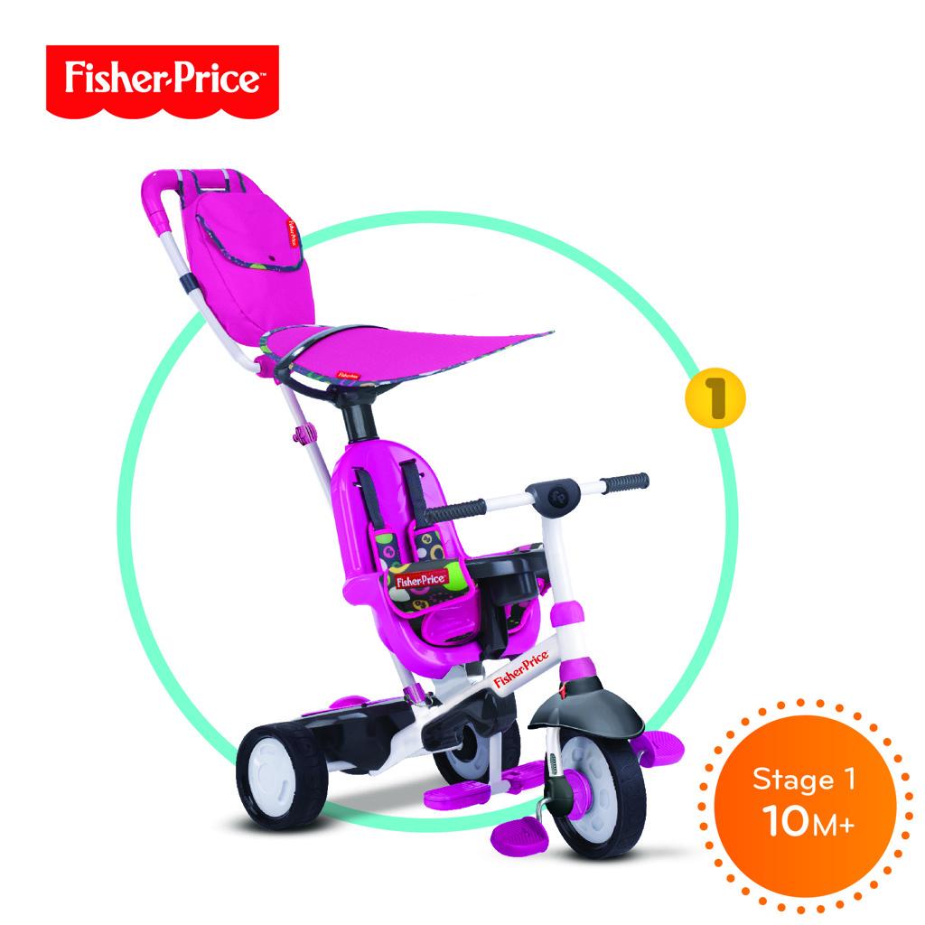 Tříkolka Smart Trike Charisma růžová 3v1