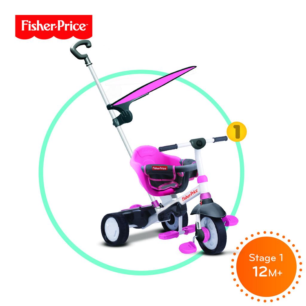 Tříkolka Smart Trike Charm Plus růžová 3v1