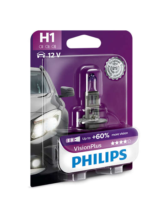 PHILIPS H1 VisionPlus 1 ks