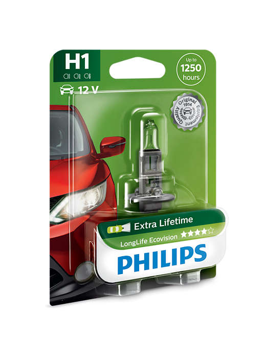 PHILIPS H1 LongLife EcoVision 1 ks blistr