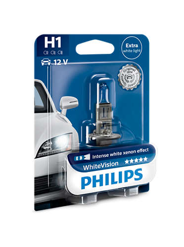 PHILIPS H1 WhiteVision 1 ks