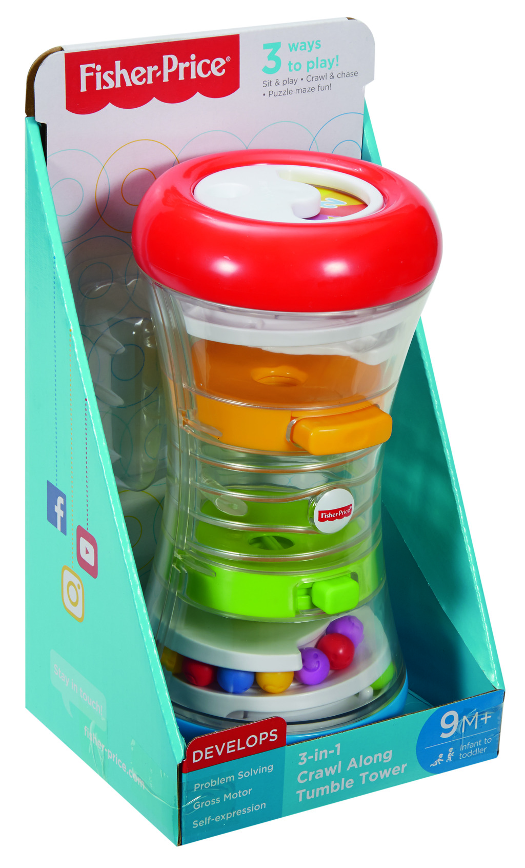 Fisher Price věž s kuličkami 3v1